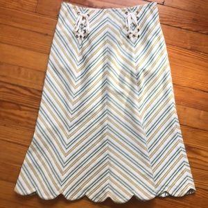 Anthropologie, elevenses, chevron stripe skirt, 0